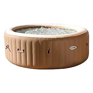 immagine di Intex 28426 Pure Spa Bubble Therapy, 196 x 71 cm 4 Posti, Sabbia, Con Pompa, Riscaldatore, Sistema Purificazione Acqua, Beige Classic