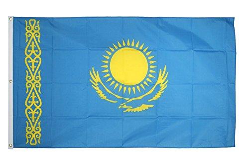 Flaggenfritze Fahne/Flagge Kasachstan - 150 x 250 cm + gratis Sticker, XXL-Fahne