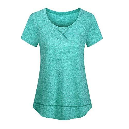 fanshion goup Camiseta de entrenamiento para mujer, de secado rápido, para yoga, para correr, deportes, fitness, atlética