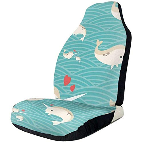 Fundas de asiento de coche amor bebé Narwhal elástico silla manta con asiento universal accesorios de asiento de coche,