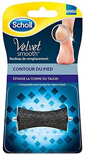 Scholl Velvet Smooth - Rodillo de repuesto para contorno de pie