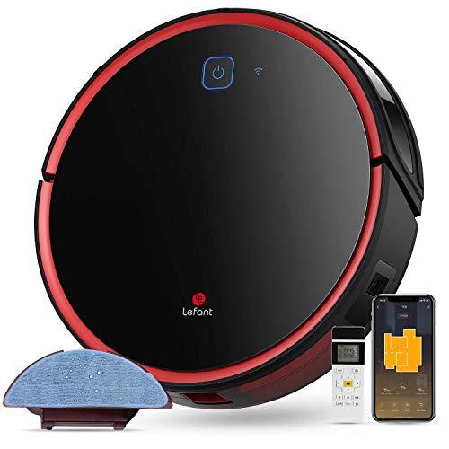 Aspiradora robot lavavajillas, 50dB silencioso, sensor de parada de caída inteligente, control de aplicaciones y Alexa, ideal para la limpieza del hogar pelos animales polvo Lefant-T700