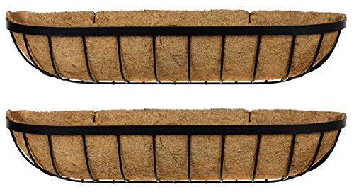 Ruddings Wood Set of 2 x 36' (91cm) Large Metal Window Boxes - Garden Flower Wall Baskets - Wall...