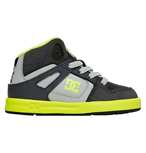 DC Shoes Baby-Boys Shoes Rebound Ul - High-Top Shoes - Boys - US 7 - Black Black/Yellow US 7 / UK 6 / EU 23