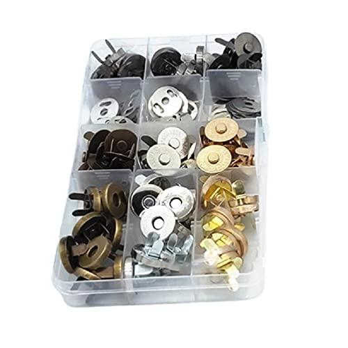 40Pcs14 / 18mm Broches de sujeción Botones de costura para manualidades DIY Botones de tejer Conjuntos para coser 4 colores Botón de metal Botón de billetera 14 mm 18 mm Bolsas botones Botones de