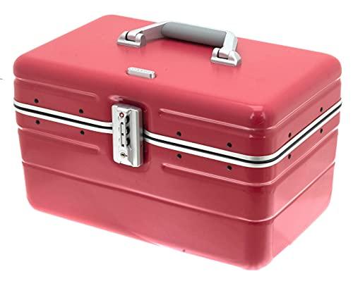 DAVIDT 'S Beauty Case – Carcasa rígida – 38 x 25 x 26 cm – 1,3 kg – 17 litros – se puede colocar sobre carrito (rojo)