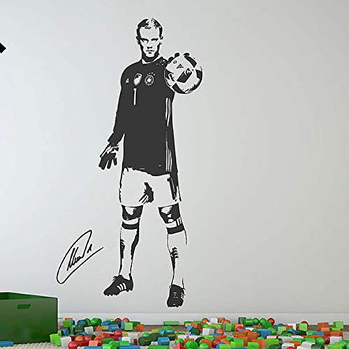 Manuel Neuer Fußball Fußballer Deutschland Sport Kreative Boy'S Poster Vinyl Wandtattoo Aufkleber, Wandtattoo Abnehmbare Kunst Aufkleber Wandbild Für Wohnzimmer, Schlafzimmer,