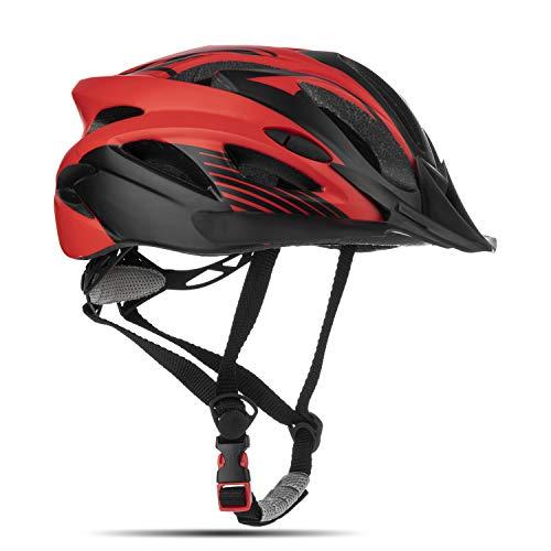 MOKFIRE Junior Kids Bike Helmet Casco Bici Niño - Casco de Ciclismo para jóvenes Mountain Bike Dial Ajustable Visor removible Boys Girls 4 Color 54-57CM