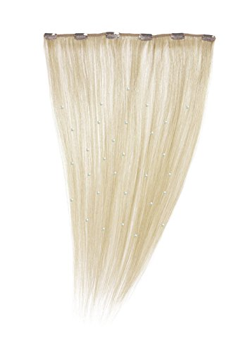American Dream Einteilige, kristallisierte 100% Echthaar-Clip-In-Extensions Farbe 60 - klares Blond - 46cm, 1er Pack (1 x 1 Stück)