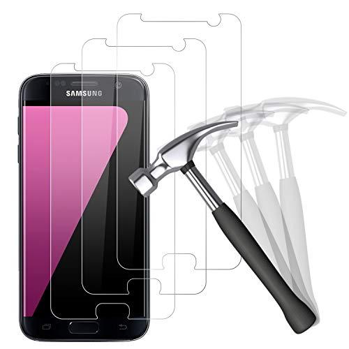 NUOCHENG [3 Stück Panzerglas Schutzfolie Kompatibel mit Samsung Galaxy S7,9H Härte Anti-Kratzer Schutzglas, Anti-Bläschen Panzerglasfolie Displayschutzfolie für Samsung S7
