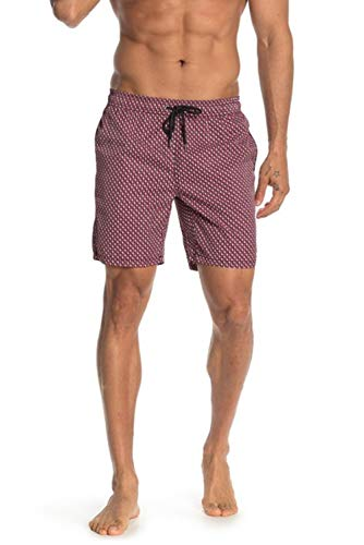 Mr. Swim Men's Swim Trunks with Mesh Lining - Swimsuit & Swimshorts - Quick Dry Swimming Bathing Suit with Pockets - Boxed 3D Red Rose, Large