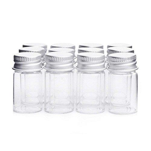 Botellas de cristal transparente con aluminio,frascos para caramelos, bisutería, adornos,...