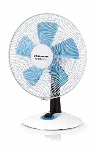 Orbegozo TF 0148 - Ventilador de sobremesa silent night, 4 velocidades, función turbo, 60 W, color blanco