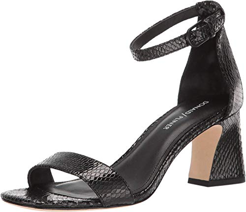 Donald J Pliner Womens Vanesa Leather Peep Toe Casual Ankle, Black, Size 9.5