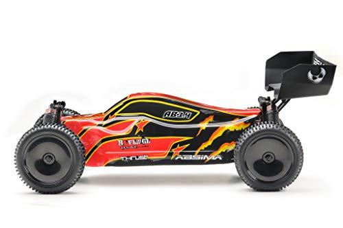 Absima Hot Shot 12222 Absima 1:10 RC Modellauto AB3.4 Buggy mit Brushed Elektroantrieb, 2,4 GHz Fernsteuerung und Allradantrieb RTR, Rot, Schwarz