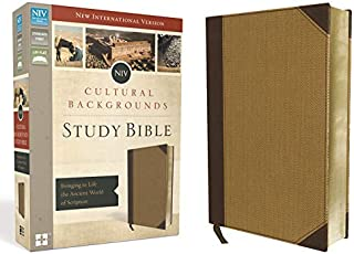 NIV, Cultural Backgrounds Study Bible, Leathersoft, Tan, Red Letter Edition: Bringing to Life the Ancient World of Scripture