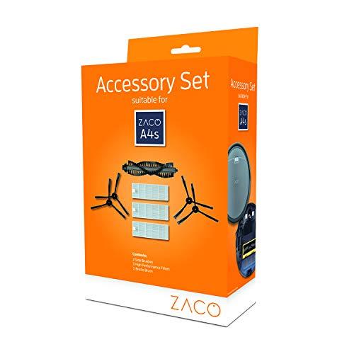 Zaco - Juego de Accesorios para aspiradora Zaco A4s (Incluye cepillos y Filtro)