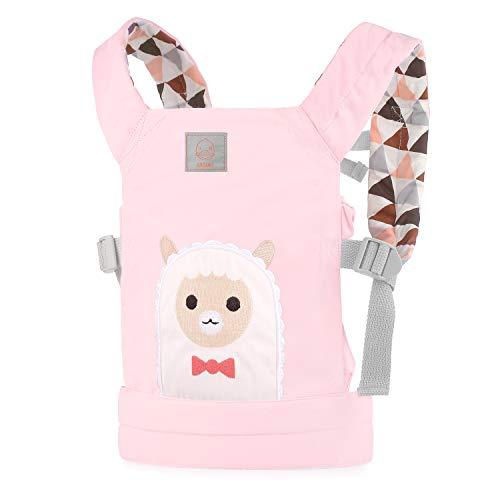 GAGAKU Puppentrage Baby Vorne und Hinten aus Baumwolle für Kinder ab 18 Monate, Alpaka-Muster