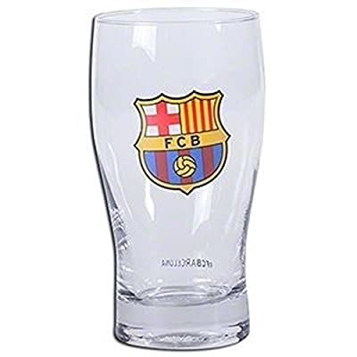 FC Barcelona Pint Glass - Great for any Soccer Fan - 100% Licensed Product - Collector's Design - Authentic Imported Beer Glass