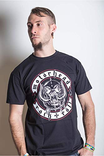 Motor Head,–Camiseta de, Biker Badge, Negro (Schwarz - Schwarz), X-Large