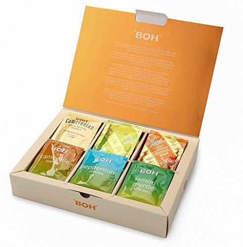 BOH Exquisite Tea Gift Variety Pack, 6 Tea Flavors, 48 Total Tea Bags, (Cameronian Black, Lime Ginger, Lemon Mandarin, Chamomile, Peppermint, Lemon Myrtle)