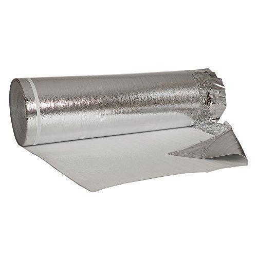 100 m² Alu-Trittschalldämmung mit Aluminium - Dampfbremsfolie 2mm Stärke für Laminat, Parkett usw