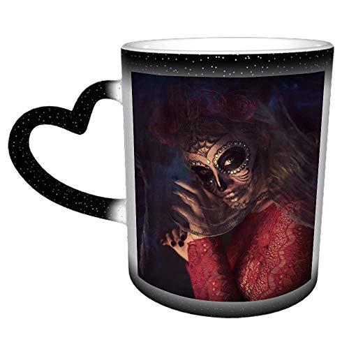 Taza de cerámica personalizada con esqueleto y telaraña: es un regalo/regalo perfecto
