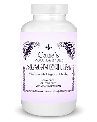 Catie's Whole Plant Food Magnesium - Plant Based, Whole Food Magnesium w/Marine Sea Vegetables + Herbs. Raw, Vegan, Gluten + Soy Free, Non-GMO. 30 Day Supply.