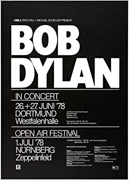 Bob Dylan and His Band - Hard Rain 1978 - Poster Concertposter Concert