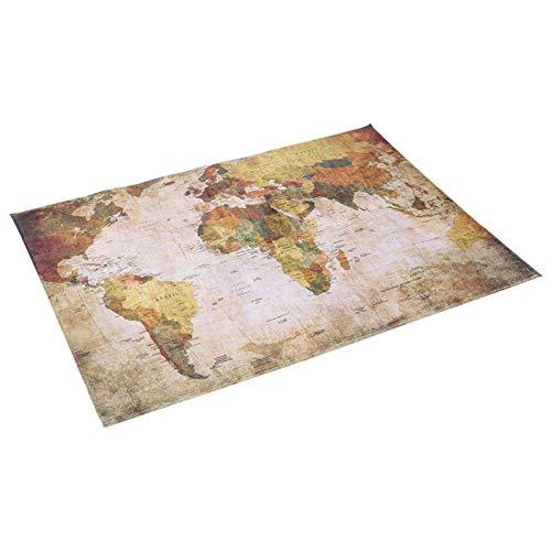 146 X 100 cm Alfombra de mapa del mundo, Almohadilla de mapa del mundo, Alfombra de piso antideslizante Alfombra de área suave Alfombra Decoración del hogar Decoración de piso para comedor
