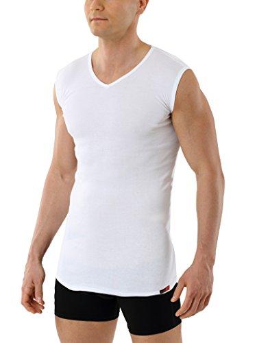 Albert Kreuz V-Unterhemd Business Herrenunterhemd aus 100% Bio-Baumwolle ohne Arm weiß 5/M