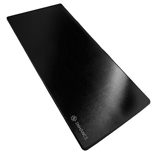 ENHANCE Mouse Pad da Gioco - Tappetino per Mouse XXL (80 x 35 cm) Cuciture Anti-Sfaldamento con Superficie di Scorrimento a Basso Attrito e Supporto Antiscivolo - Nero