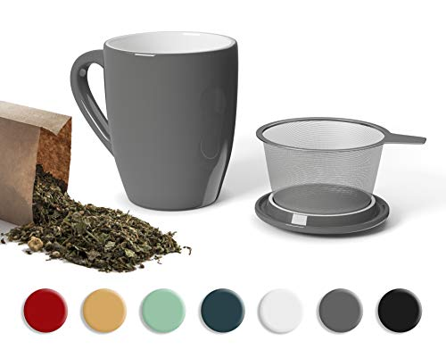 YOKO DESIGN - Mug à thé Tisanière Gris