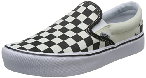 Vans - - Erwachsene Unisex Slip-On Lite Schuhe, 34.5, (Checkerboard) Black/Classic White