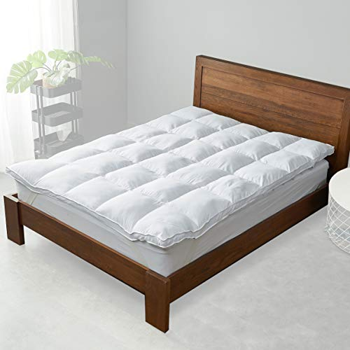Cheer Collection Bed Topper - Breathable, Soft and Plush Luxurious Down Alternative Mattress Topper - King Size