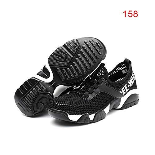Acreny Unisex Resistente Zapatillas Antideslizante Transpirable Seguro Protector Trabajador Zapatos - 158, 39