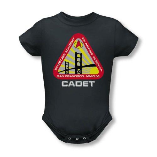 Star Trek - - Cadet infantile Starfleet T-shirt au fusain, 12, Charcoal