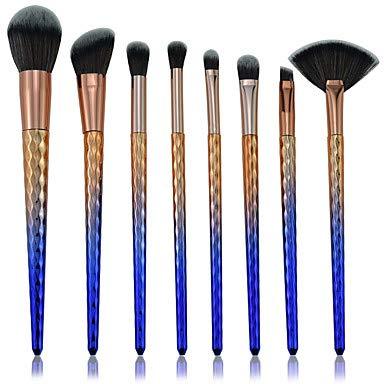 ZYC 8pcs Pinceaux à Maquillage Professionnel Ensembles de brosses Economique/Dégradé de Couleur Plastique