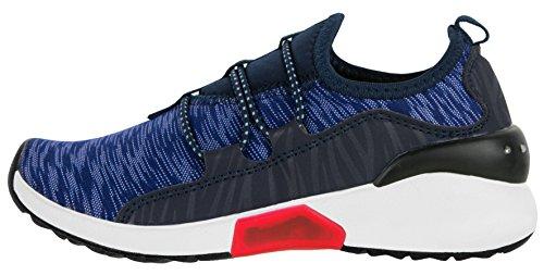 Beppi Leuchtschuhe für Jungen | Blinkende Straßenschuhe | Blau/Rot | LED Sneakers | Bequeme und Leichte Turnschuhe mit Beleuchtung | Größe 31
