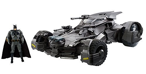 Mattel FRL54 - DC Justice League Movie RC Deluxe Batmobil mit 15 cm Batman Actionfigur, für Sammler, Actionfiguren Spielset ab 14 Jahren
