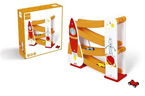 Scratch Preschool: Circuit à Voitures - FUSÉE avec 3 Voitures 32.5x8x30cm, en boîte, 3+