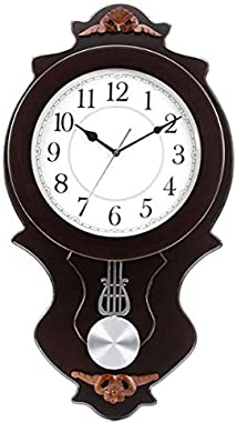 President Analog Quartz Official Designer Pendulum Big Size Wall Clock for Hall (64 X 36 cms Color : Wood and White) Made in