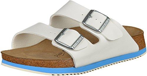 Birkenstock 230124-36-normales Fußsbett Superlauf-Schuh Arizona Birko-Flor white blue Gr. 36 - normales Fußbett