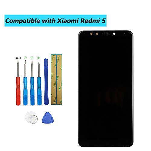 Upplus - Pantalla LCD de Repuesto Compatible con Xiaomi Redmi 5, Pantalla táctil LCD con Marco y Juego de Herramientas (Negro)
