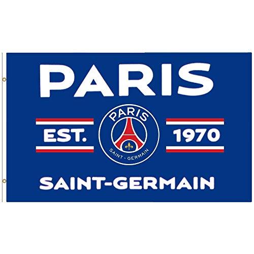 Paris St Germain Flagge, 100% Polyester, 150 x 90 cm