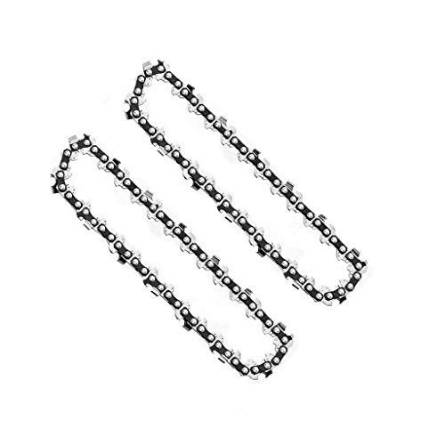 2 cadenas de sierra de cadena de 4 pulgadas para 4 pulgadas mini portátil recargable de la sierra de madera recorte jardín cadena de sierra