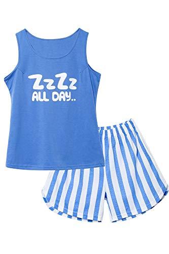 tank teens Jashe Girls Tank Top and Shorts Pajamas - Tween & Teens PJS Big Kids Size 6-18 Cute