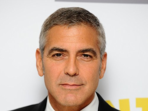 Actor Poster, American Print, Face Poster, Smile Print, George Clooney Poster, Celebrity Print, White Background Poster (A4-8.5'' x 11'')