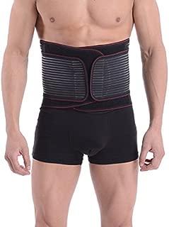 Halovie Lumbar Support Belt, Abdominal Binder Elastic Postpartum Girdle Breathable Tummy Trimmer Lower Back Brace for Men Women