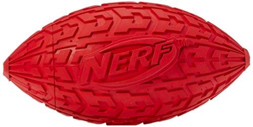 Nerf Dog Trax Tire Squeck Football: Ø 15,2 cm,farblich sortiert